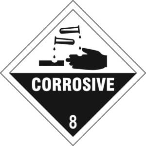 Corrosive 8 - Self Adhesive Sticky Sign Diamond (200 x 200mm)