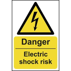 Danger Electric shock risk - Sign - PVC (200 x 300mm)