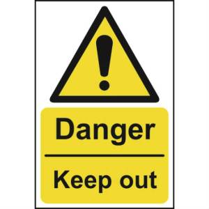 Danger Keep Out - Sign - PVC (200 x 300mm)