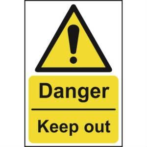 Danger Keep Out Sign - SAV (400 x 600mm)
