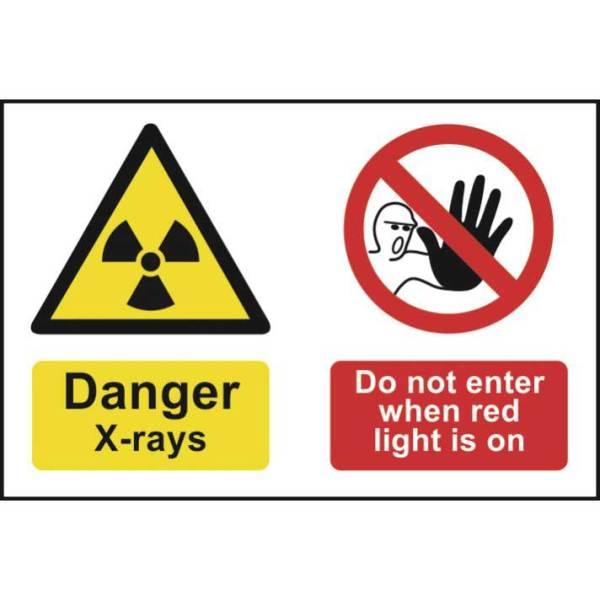 Danger X-Rays Do Not Enter Sign