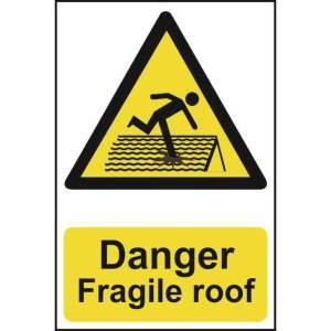 Danger fragile roof -Sign PVC (200 x 300mm)
