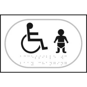 Disabled & Infant Toilet Symbol Braille Sign