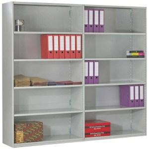 Duo Shelving Clad Back Extension Bay - 6 Shelves 1850h x 1000w x 300d