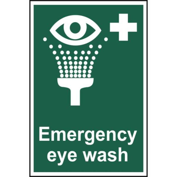 Emergency eye wash - Sign - PVC (200 x 300mm)