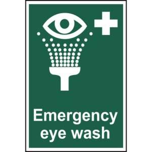 Emergency eye wash - Sign - PVC (200 x 300mm)