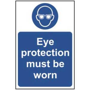 Eye protection must be worn - Sign - PVC (200 x 300mm)