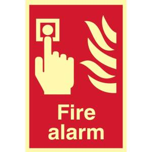 Fire Alarm Sign - PHO (200 x 300mm)