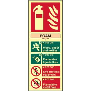 Fire Extinguisher: Foam Sign - PHO (82mm x 202mm)