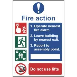 Fire action procedure - Sign - PVC (200 x 300mm)