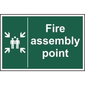 Fire assembly point - Sign - PVC (400 x 600mm)