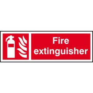Fire extinguisher - Self Adhesive Sticky Sign (450 x 150mm)