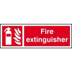 Fire extinguisher - Sign - PVC (300 x 100mm)