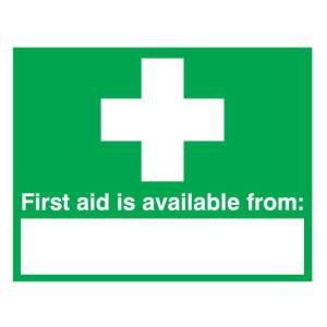 First Aid Is Available From Signs Self Adhesive 300 x 500