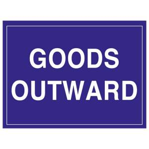Goods Outward Sign Self Adhesive 300mm x 400mm