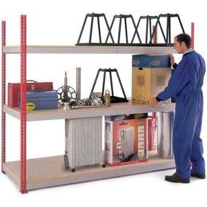 H/D Just Shelving - 1981h x 1800w x 600d 3 Chipboard Shelf Levels