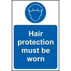 Hair Protection Must Be Worn Sign - RPVC (200 x 300mm)