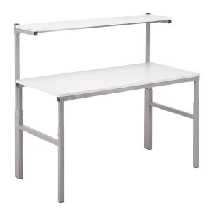 Height Adjustable ESD Workbench Allen Key 700x1200 Worktop inc Shelf