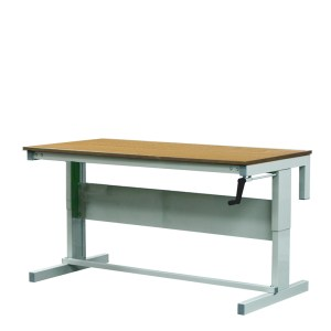 Height Adjustable Workbenches with Hardwood Top 1200w x 750d Bench