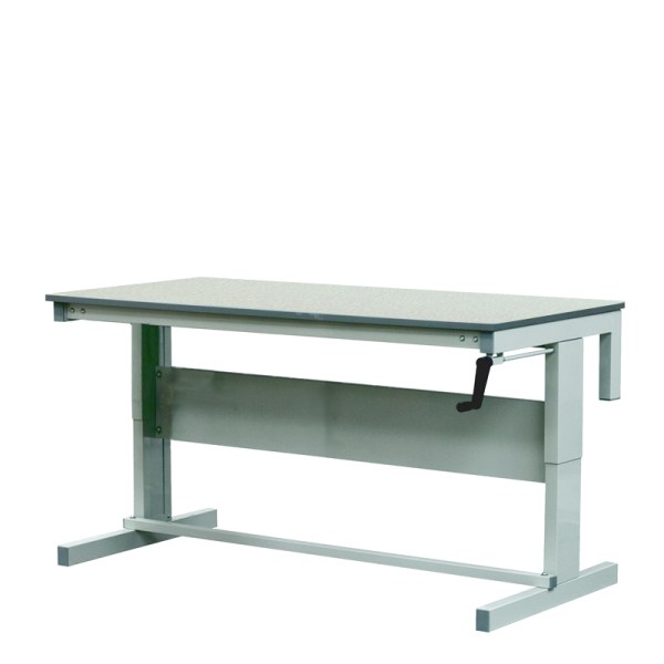 Height Adjustable Workbenches with Laminate Top 1200w x 600d Bench