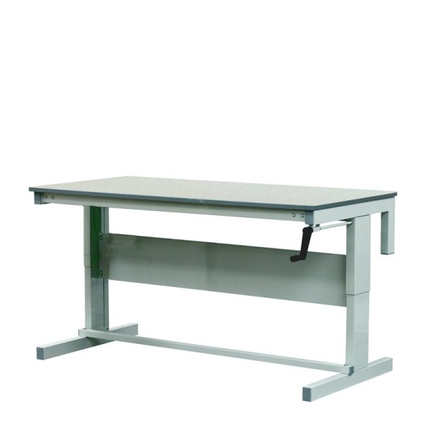 Height Adjustable Workbenches with Laminate Top 1200w x 750d Bench