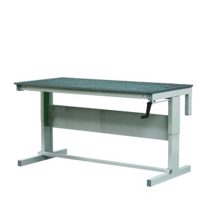 Height Adjustable Workbenches with Lino Top 1500w x 750d Bench