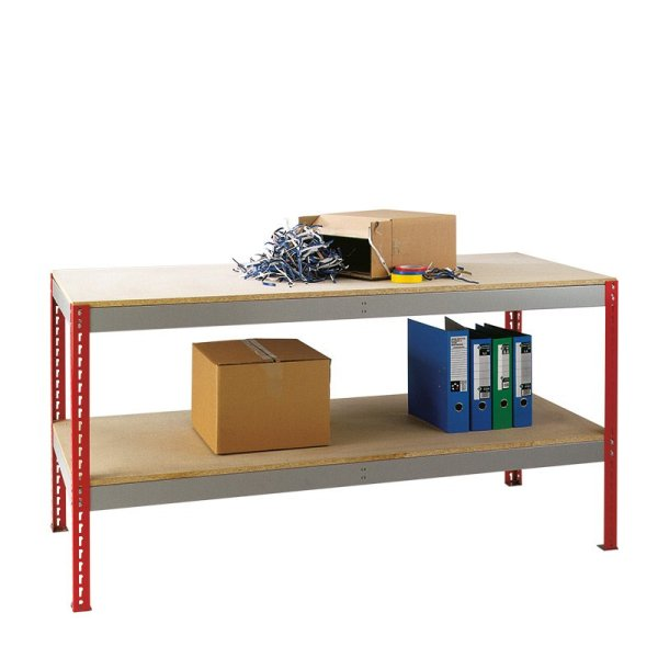 Just Workbench with Chipboard Top & Full Under shelf 2400 w x 750 d
