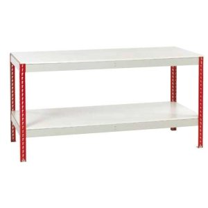Just Workbench with Melamine Top & Full Under shelf 2400 w x 750 d