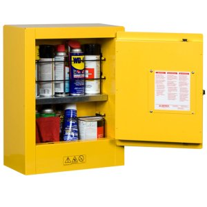 Justrite Compact Flammable Storage Cabinet -self close - 8912201
