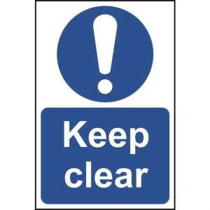 Keep Clear Sign - SAV (400 x 600mm)