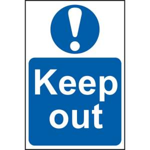 Keep Out Sign - SAV (200 x 300mm)