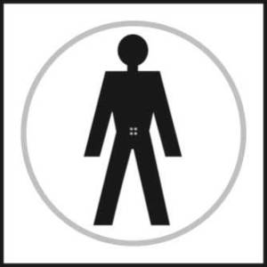 Male Toilet Braille Sign With Symbol