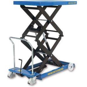 Manual Mobile Double Scissor Lift Table 300kg cap