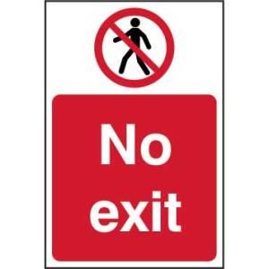 No Exit Sign - SAV (400 x 600mm)
