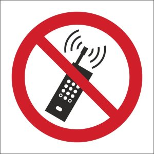 No Mobile Phone, Symbol Only Sign