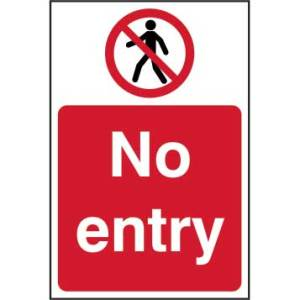 No entry - Self Adhesive Sticky Sign (200 x 300mm)