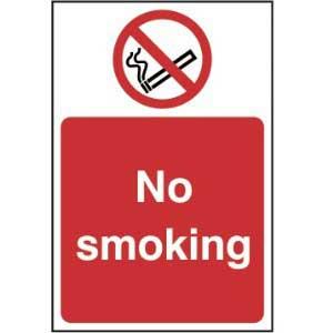 No smoking - Self Adhesive Sticky Sign (200 x 300mm)