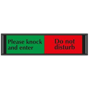 Please Knock and Enter / Do Not Disturb Slider Sign for Doors
