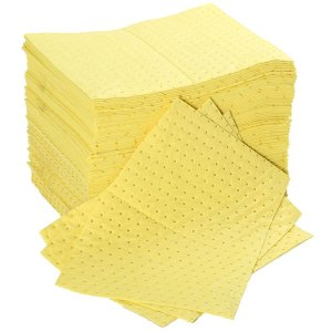 Premium Chemical Absorbent Spill Pads pack of 100