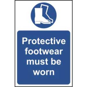 Protective footwear must be worn - Self Adhesive Sign 400 x 600mm