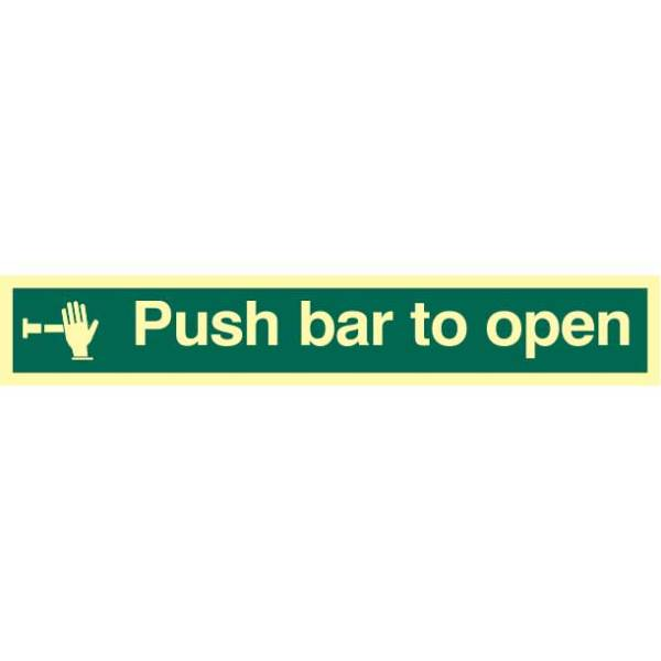 Push Bar To Open Sign - PHO (300 x 100mm)