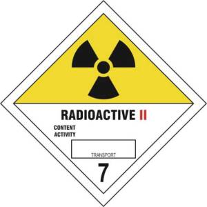 Radioactive II 7 - Self Adhesive Sticky Sign Diamond (200 x 200mm)