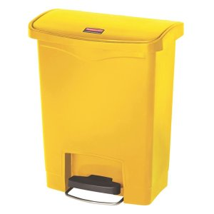 Rubbermaid 30L Step-on Pedal Bin - White