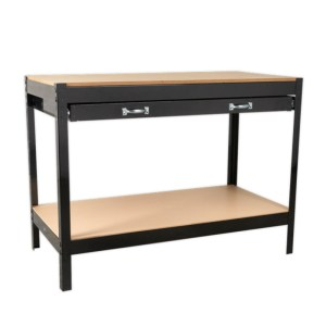Sealey Workbench with 2 Drawers and Backboard - 1.2m