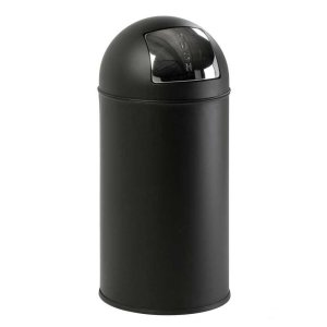 Steel Push Bins 40 litre Metallic Grey