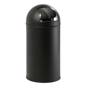 Steel Push Bins 40 litre Painted Black Bin