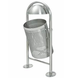 TRAFFIC-LINE Stainless Steel Litter Bin - Dome Top