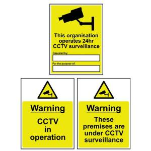 This organisation operates CCTV... - Self Adhesive Sign 300 x 400mm