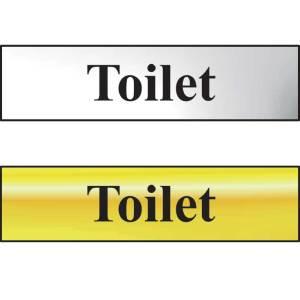 Toilet Sign - Polished Gold