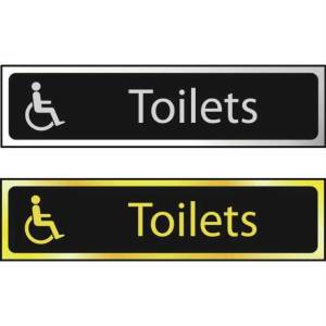 Toilets (Disabled Logo) - Sign CHR (200 x 50mm)